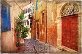 strrets of old Greece - artistic picture - 36583708