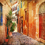 old streets - traditional Greece- artistic series