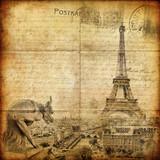 Fototapety vintage letter - Paris