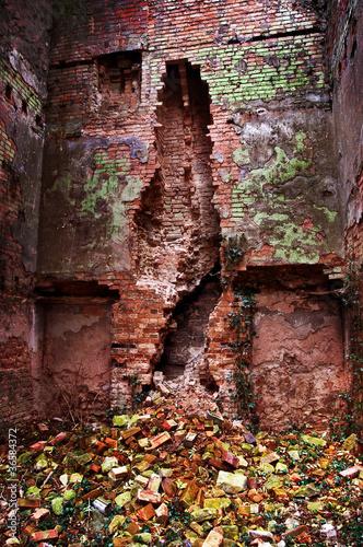 brick building ruin
