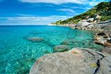 Capo Bianco beach, Elba island. - 36584506