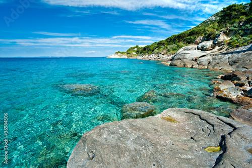 Capo Bianco beach, Elba.