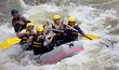 Group of people whitewater rafting - 36585589
