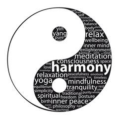 """YIN-YANG"" Tag Cloud (zen meditation relaxation peace harmony)"