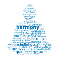 """HARMONY"" Tag Cloud (zen meditation lotus position relaxation)"