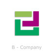 Sticks Logo initial letter B # Vector