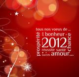Fototapety Carte de voeux bonne année 2012