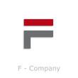 Sticks Logo initial letter F # Vector