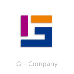Sticks Logo initial letter G # Vector