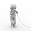 3D Charakter Telefoniert