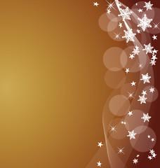 Weihnachtsflyer rot-gold