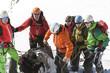 Alpinistengruppe beim Aufbruch