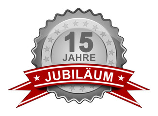 15 Jahre Jubiläum - Plakette