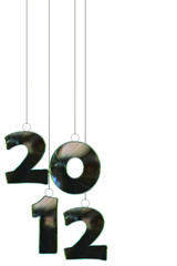 Amazing shine new year 2012  numbers pendant