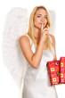 Engel zu Weihnachten mit Paketen