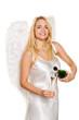 Engel zu Weihnachten mit Sekt