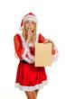 Weihnachtsfrau mit Wunschbrief.