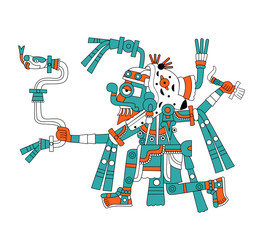 Mayan god of rain Tlaloc