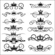 Victorian Scrolls and crown. Decorative elements. Vintage - 36590134