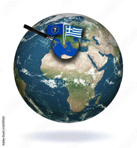Plexiglas Avenir de la Grèce dans l'Europe.