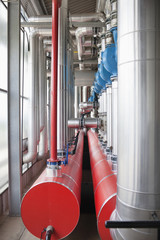 Pipes and tanks in factory