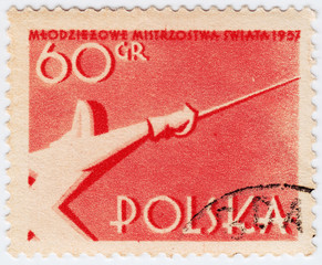1957  Poland shows fencer
