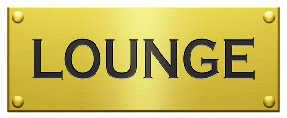 """Lounge"" Engraved Plaque"