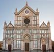 Florence, view of Santa croce church. Tuscany.