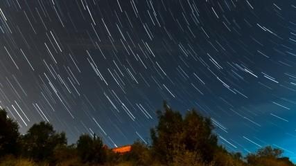 Cumulative time lapse of Star trails
