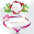 Abstract glossy speech bubble with Christmas candy. Vector backg