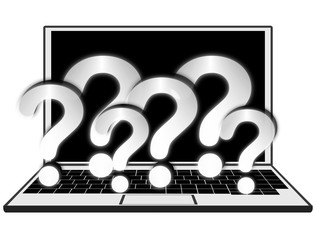 Laptop - question mark