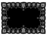 Fototapety Lace Doily Placemat, Black