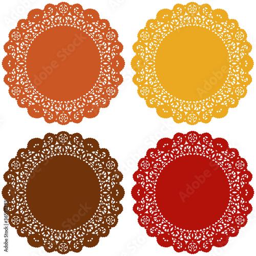 Lace Doily Place Mats, Harvest Colors