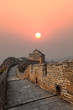 great wall in autumn sunset