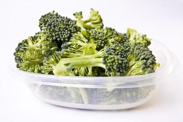 Broccoli in a Plastic Storage Container