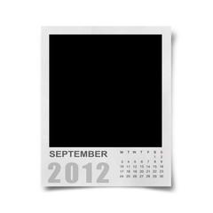 Calendar 2012 on blank photo Background