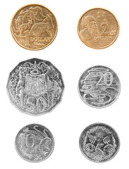 Australian Coins Isolated