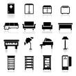 Icons set furniture - three
