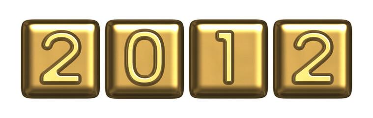 New Year's 2012 gold symbol