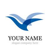 Logo birds in flight # Vector