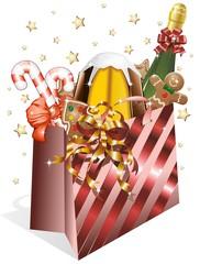 Sacchetto Spesa Natale-Christmas Shopping Paper Bag