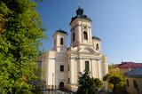 Parish church in Banska Stiavnica, Slovakia UNESCO poster