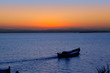 sunset boat in Albufera lake Valencia