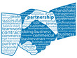 """PARTNERSHIP"" Tag Cloud (business contract handshake teamwork)"