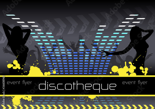 "vector template ""disco/event flyer"""