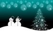 Christmas scene background