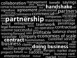 """PARTNERSHIP"" Tag Cloud (business partners clients projects b2b)"