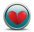 broken heart, turquoise