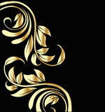 Fototapety Celebration gold flowers background design