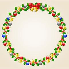 飾り枠(クリスマス)